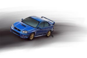 Subaru WRX STI Print Version 1 by aibrean