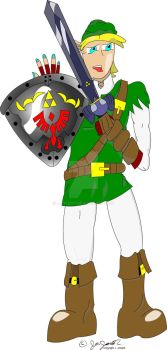 Kickass Drawing of Link by JJoseph