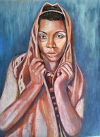 African Woman With Hood by dezz1977