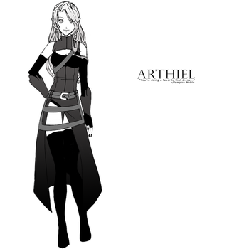 Arthiel - Sword Dancer outfit by x-Kaze-x