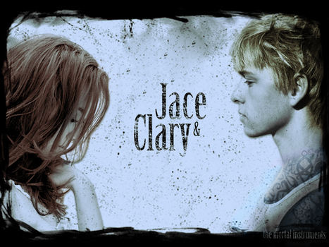 Clary and Jace Wallpaper by ReachForTheStarfish