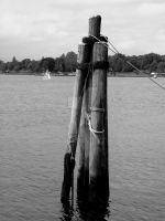 Mystic Seaport in Black and White III by TriciaStucenski