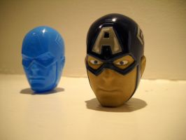Easter Egg Captain America Avengers Marvel Head by Prowlcop