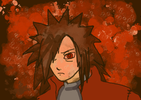 Uchiha Madara speed-draw for MadaraIsGod27 by BloodKaika
