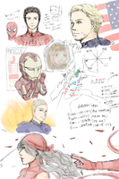 Marvel Doodle 8th Nov 2013 COLORED by aquaticsky