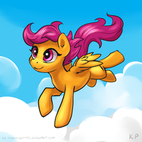 Speedpaint 10 - Scootaloo by KP-ShadowSquirrel
