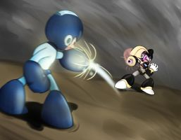Megaman Vs Bass by RejiXD