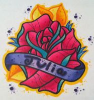 Rose name tattoo by paintball0531
