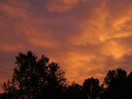 Clouds at Sunset by leighbennett