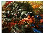 Superman vs. Doomsday by artistmyx