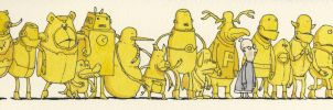 Hanging out with the yellow gang by MattiasA