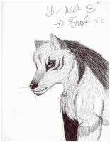 Wolf (another pen sketch) by Icetalon-the-Warrior