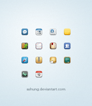 small ios style icons by Ashung