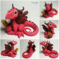Virgo Dragon (Eighth of 12 in series) by lizzarddesigns