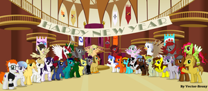 Happy new year to everypony by Vector-Brony