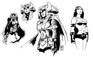 sketches for big barda by gianmac