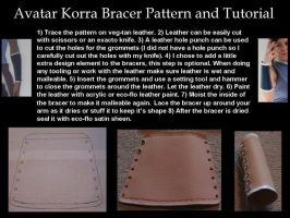 Avatar Korra Bracer Pattern and Tutorial by ScissorWizardCosplay