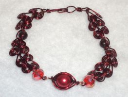 Hearts Bracelet by ACrowsCollection