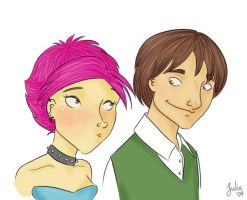 Tonks and Lupin by parv89