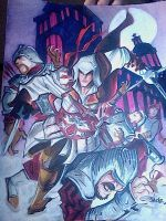 Assassin's Creed commission by danablackarts