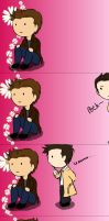 Destiel Flower by Zafona