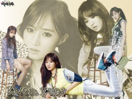 SNSD kwon yuri wallpaper by mandana21