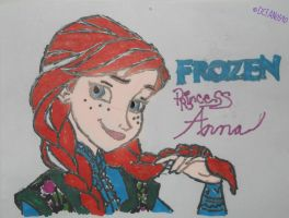 Anna of Arendelle by dcfan0590
