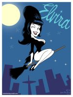 Elvira, retro TV style! by Thinkbolt