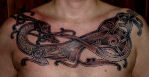 Viking art tattoo new by DarkSunTattoo