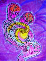 Alex Grey Drawing by chobo-ling