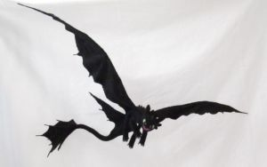 Needle Felted Toothless by GlassCamel