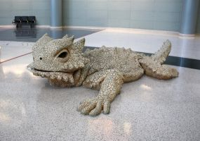 Bearded Dragon Sculpture by GreenEyezz-stock