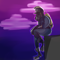 Commission- Depressed Pyro by YouCanCallMeLiz
