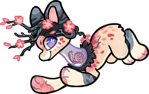 TN_Cherryblossoms_ japanese Dormouse by griffsnuff