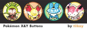 Pokemon Doodle Buttons - X+Y by tiikay