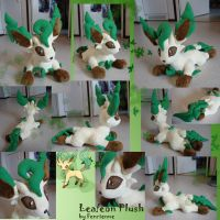Leafeon plush by Fenrienne