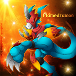Flamedramon by WinterLamb