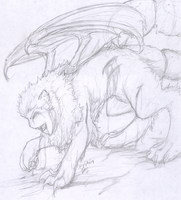 Mythical creatures - Manticore by Silverlightsaber