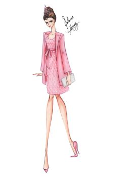 Audrey Hepburn in Breakfast at Tiffany's - Pink by frozen-winter-prince
