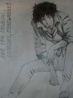 Spike Spiegel by dyingmoonshine