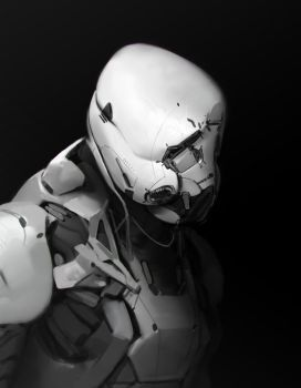 Sad Storm Trooper bot guy by Robotpencil