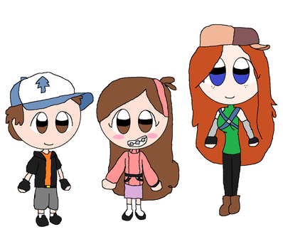 AT KH Dipper, Mabel and Wendy by ajpokeman