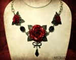 Triple Rose Necklace by Necrosarium