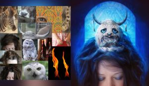 Creature In My Head Before and After by mary-petroff