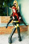 Miss Marvel and Jean Grey by lulysalle
