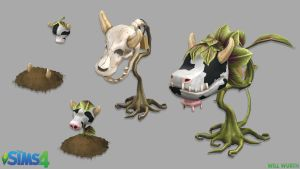 The Sims 4: Cowplant by DeadXIII