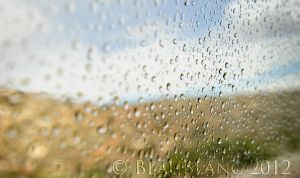 Water Drops on a Nevada Window by beaublanc