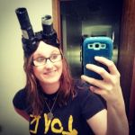 Me wearing Homemade Ecto Goggles by MoriartysMuffins