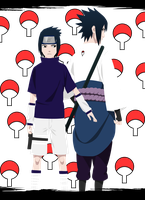 Sasuke Uchiha before and afte by Narusailor