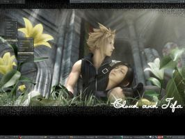 Cloud and Tifa by Justarius